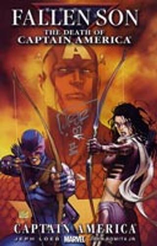 Civil War: Fallen Son # 3b - Captain America Signed by JOHN ROMITA JR