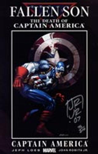 Civil War: Fallen Son # 3a - Captain America Signed by JOHN ROMITA JR