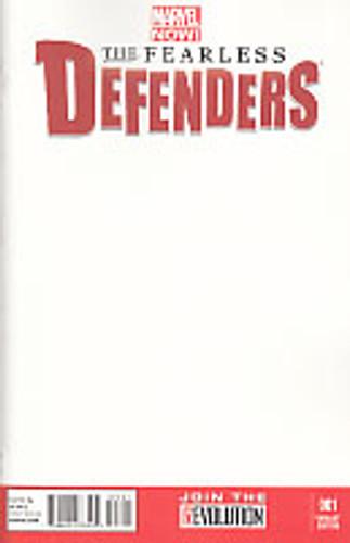 Fearless Defenders # 1b Limited 'BLANK' Variant