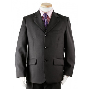 Boy's Black 3 Piece  Suit