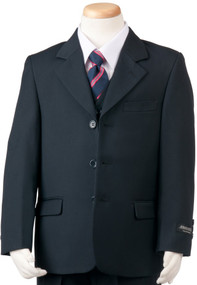 Boy's 3 Piece Navy Husky Suit