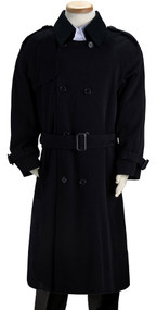 Boy's Navy Double Breasted Trench Coat