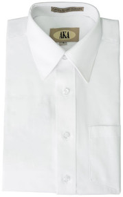 Boy's White Short Sleeve Dress Shirt