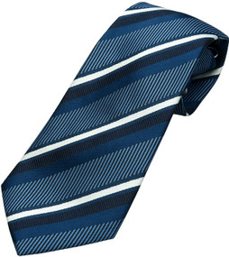 Boy's Blue Striped Tie