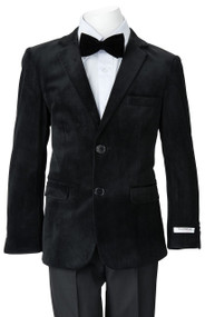 Boy's Black Velvet Blazer