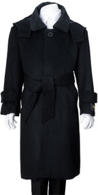 Boy's Black Wool Dress Coat