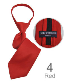 Boy's Red Zipper Tie 14""