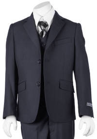 Boy's Navy Blue 3 Piece Classic Suit