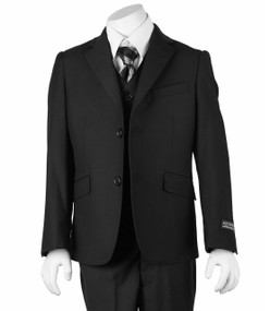 Boy's Black 3 Piece Classic Suit