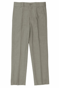 Boy's Slim Fit Light Gray Linen Look Pants