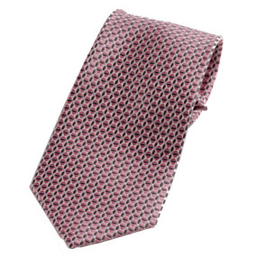 Boy's Pink Patterned Clip On Tie 14""