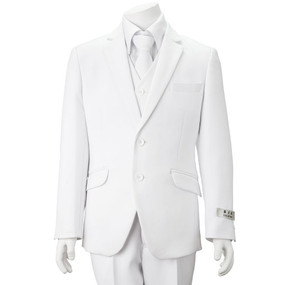 Boy's White Suit 5 Piece