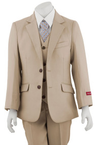 Boy's Tan Suit 3 Piece