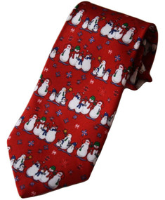Boy's Red Holiday Themed Clip-On Tie 14""
