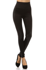 Leather Paneled Leggings