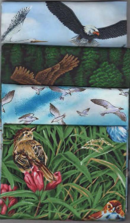 Birds Themed Fat Quarter Fabric Pack
