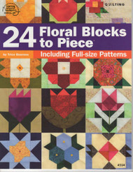 24 Floral Blocks to Piece Front Cover