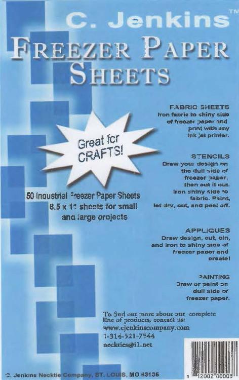 Freezer Paper Sheets - 50 Page PKG