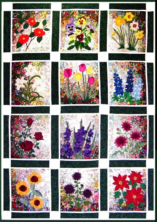 Rachel's Flower Garden Watercolor Quilt