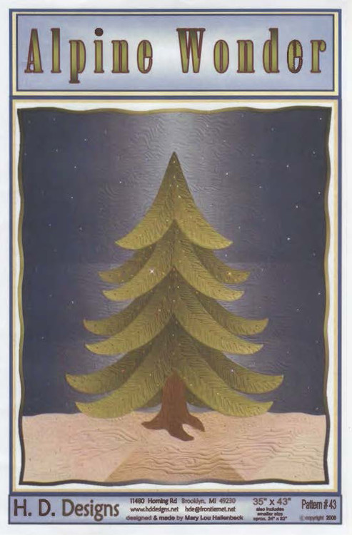 Alpine Wonder Wall Art Quilt