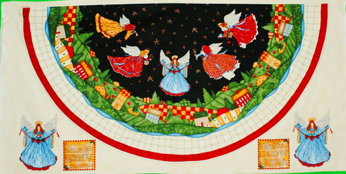 Angels-a-Merry Wall Quilt Panel