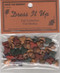 """Fall Medley – A collection of fall themed items: pine cones & various colored leaves – about 1/2"""" - shank or sew through holes – 6 of each shape and color."""