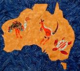 Aboriginal Australia Quilt Block