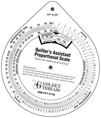 Quilter's Assistant Proportional Scale (Enlarging and/or Reduction Patterns)