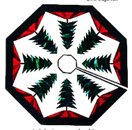 Trim the Tree Tree Skirt Paper Piecing