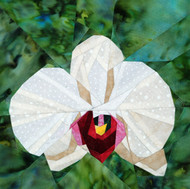 Phalaenopsis Orchid Quilt Block