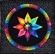 Bright Star Foundation Paper Piecing Quilt Black Center Background