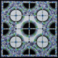 Black Beauty Foundation Paper Piecing Quilt
