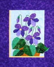 Violets Paper Piecing Quilt