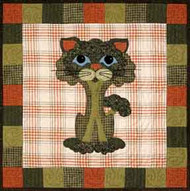 Broc-Kitty Applique Block
