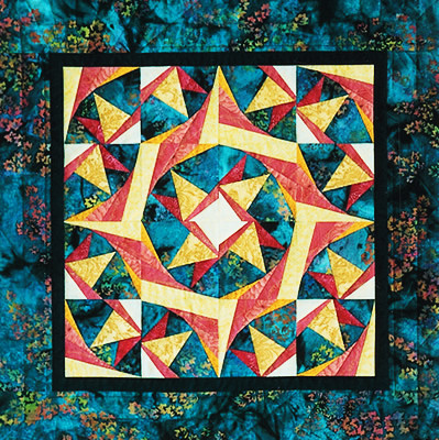 Twisted Star Paper Piecing Quilt