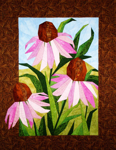 Coneflowers Paper Piecing Quilt