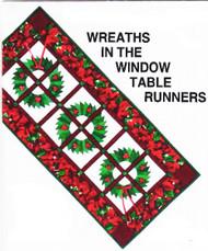 Wreaths in the Window Paper Piecing Table Runner