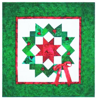 Carpenter's Wreath Holiday Paper Piecing Quilt