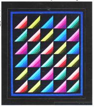 Roman Stripes Paper Piecing Quilt