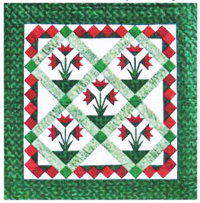 Carolina Lily Quilt - Foundation Paper Piecing Pattern - 30 1/2