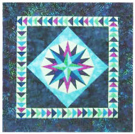 Mariner's Compass Paper Piecing Quilt