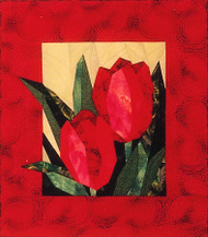 Tulips Paper Piecing Pattern Quilt Block