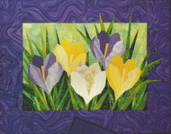 Crocus Paper Piecing Pattern Quilt Block