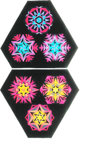 Colored Crystals #2 - Foundation Paper Piecing Pattern