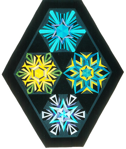 Colored Crystals #1 - Foundation Paper Piecing Quilt