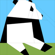 Panda Paper Pieced Themed Greeting Card