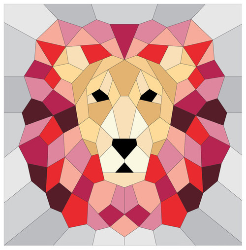 The Lion - English Paper Piecing Pattern Quilt