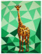 The Giraffe Abstractions Quilt Paper Piecing Pattern Quilt