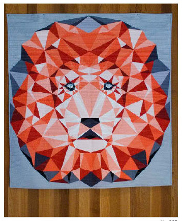 The Jungle Abstractions Quilt: The Lion Foundation Paper Piecing Quilt