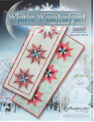 Winter Wonderland foundation Paper Piecing Table Runners Front Cover